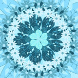 Mandala om ornament, stammen Arabisch etnisch Indisch motief, cirkel symmetrisch abstract bloemen geometrisch patroon Stock Afbeelding