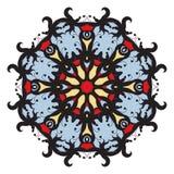 Mandala op achtergrond Royalty-vrije Stock Afbeelding