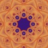 Mandala orange illustration stock