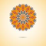 Mandala orange Photographie stock libre de droits