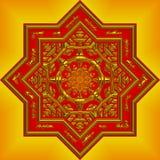 mandala orange compliqué Images libres de droits