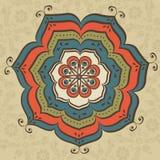 Mandala oriental ilustración del vector