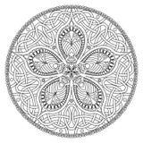 Mandala. Oriental decorative flower pattern Stock Photos