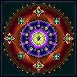 Mandala oriental do teste padrão Fotos de Stock Royalty Free