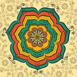 Mandala oriental hermosa ilustración del vector