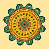 Mandala oriental hermosa stock de ilustración