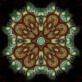 Mandala orientale della perla e della giada Fotografia Stock
