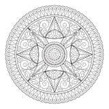 Mandala orientalni motywy royalty ilustracja