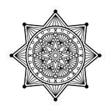 Mandala ornament. Abstract vector mandala ornament template Stock Photos