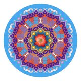 Mandala ornament with beautiful flower. Hand drawn decorative round pattern. Royalty Free Stock Image