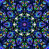 Mandala Ornament dans la forme du kaléidoscope lumineux de flocon de neige Photographie stock libre de droits
