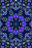 Mandala Ornament dans la forme du kaléidoscope lumineux de flocon de neige Photo libre de droits