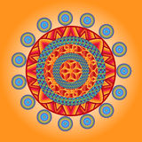Mandala ornament element with rounds Stock Image