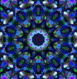 Mandala Ornament in Form des hellen Schneeflockenkaleidoskops lizenzfreies stockbild