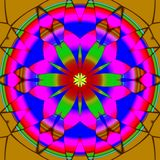 Mandala ornament generated texture Stock Photo