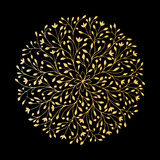 Mandala ornament, golden pattern for your design Royalty Free Stock Photos