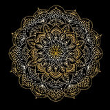 Mandala ornament, golden pattern for your design Stock Images