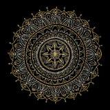 Mandala ornament, golden pattern for your design Stock Image
