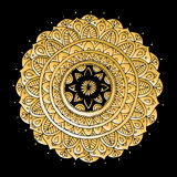 Mandala ornament, golden pattern for your design Royalty Free Stock Image