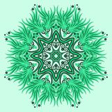 Mandala ornament in green colors Royalty Free Stock Images