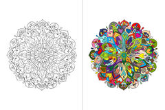 Mandala ornament, hand made sketch for your design Royalty Free Stock Images