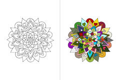 Mandala ornament, hand made sketch for your design Stock Image