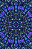 Mandala Ornament i form av den ljusa snöflingakalejdoskopet Fotografering för Bildbyråer