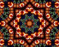 Mandala Ornament i form av den ljusa snöflingakalejdoskopet Royaltyfria Bilder