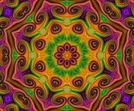 Free Mandala Ornament In Shape Of Bright Snowflake Kaleidoscope Stock Photos - 70957663