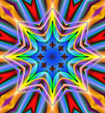 Mandala Ornament in shape of bright snowflake kaleidoscope Stock Image