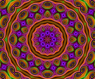 Mandala Ornament in shape of bright snowflake kaleidoscope Royalty Free Stock Photos