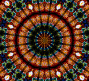 Mandala Ornament in shape of bright snowflake kaleidoscope Royalty Free Stock Photos