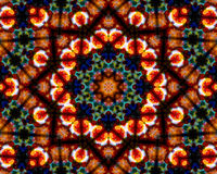 Mandala Ornament in shape of bright snowflake kaleidoscope Royalty Free Stock Images