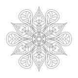 Mandala Ornament Vector Illustration Imágenes de archivo libres de regalías