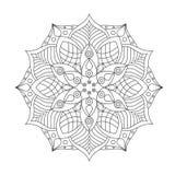 Mandala Ornament Vector Illustration Imagen de archivo libre de regalías