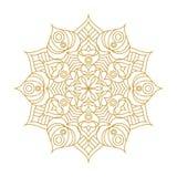 Mandala Ornament Vector Illustration Imagen de archivo