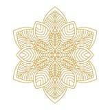 Mandala Ornament Vector Illustration Foto de archivo libre de regalías