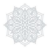 Mandala Ornament Vector Illustration Fotos de archivo