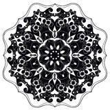 Mandala ornamentado redonda decorativa para a cópia ou o design web Fundo abstrato da mandala Fotografia de Stock Royalty Free
