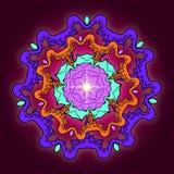 Mandala ornamental Stock de ilustración