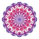 Mandala ornamental colorida Ilustración drenada mano del vector Fotografía de archivo libre de regalías