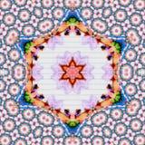 Mandala ornamental elemento-coloreada Oriente india tradicional Fotos de archivo
