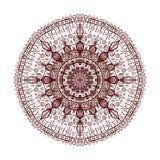 Mandala ornamental Ilustración drenada mano del vector Imagen de archivo
