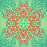 Mandala ornamentale del cerchio con gli uccelli Immagini Stock