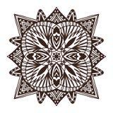 Mandala ornamentale delle mattonelle Progettazione di arte del tatuaggio Modello dell'ornamento del tappeto Pagina del libro da c royalty illustrazione gratis