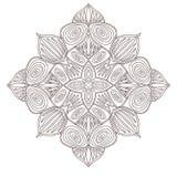 Mandala ornamentale Progettazione di arte del tatuaggio Modello dell'ornamento del tappeto Vettore per la pagina adulta di colori illustrazione di stock
