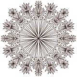 Mandala ornamentale Progettazione floreale di arte del tatuaggio Modello dell'ornamento del tappeto Vettore per la pagina adulta  royalty illustrazione gratis