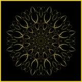 Mandala - ornamento dorato - arabesque Fotografie Stock Libere da Diritti