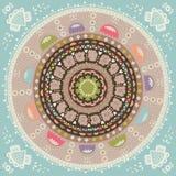 mandala Ornamento etnico rotondo Fotografie Stock Libere da Diritti