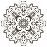 mandala Ornamento redondo ilustración del vector